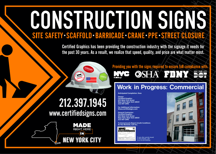 Construction Signs NYC