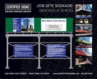 Construction site signage requirements